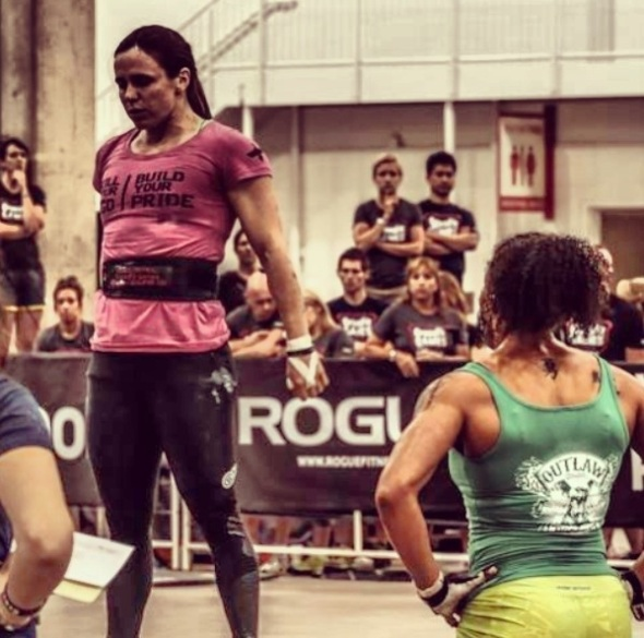 2013 Regional, Deadlift/Box Jump, when Jess was inexplicably asked to go back and repeat a deadlift