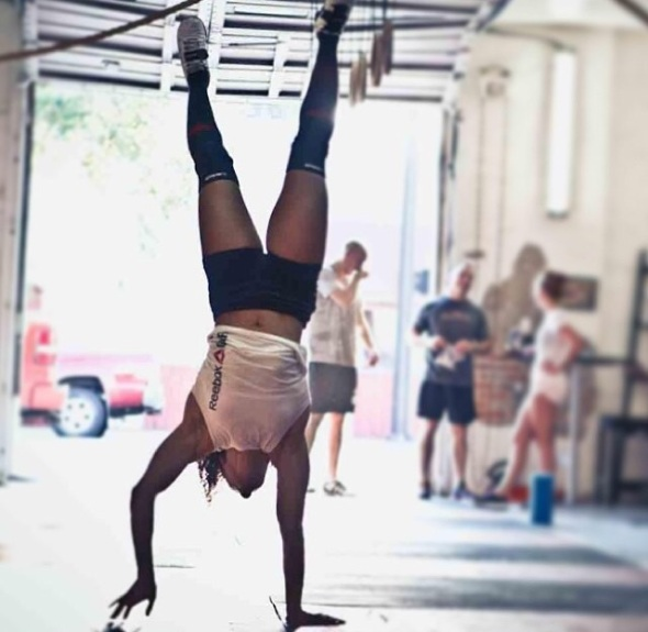 Training for the 2012 CrossFit Games, in which handstand walks did not appear